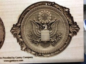 August 9, 2018 – Laser Engraving by Tim of Woodcraft